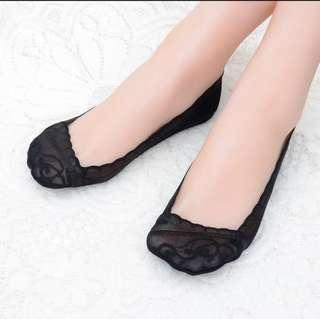 Ladies Black Invisible Low Cut Socks for High Heel