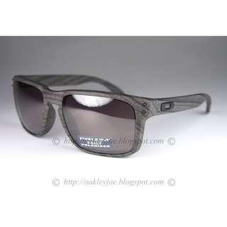 392d6d48b1 BNIB Oakley Holbrook woodgrain + prizm daily polarized oo9102-B7 sunglass  shades