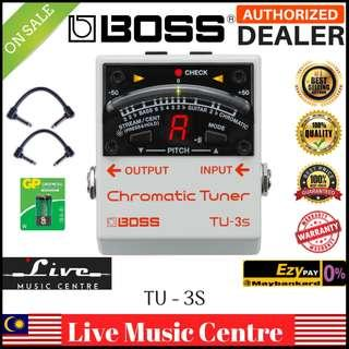 Boss TU-3S Chromatic Tuner With Patch Cable (TU3S/TU-3/TU3)