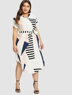😊Plus size dress w belt