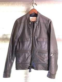 Undercover 羊仔皮 皮褸 lamp skin leather jacker