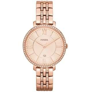🚚 [Christmas Special Sale] Fossil ES3546 Jacqueline Rose Gold Stainless Steel Analog Ladies Casual Watch
