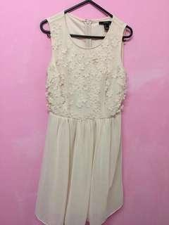 F21 nude pink floral dress