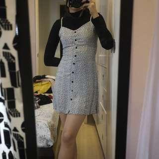 Repriced! H&M Floral Polka Dot Spaghetti Strap Dress