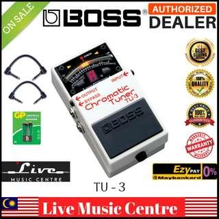 Boss TU-3 Chromatic Tuner Pedal with Patch Cable (TU3)