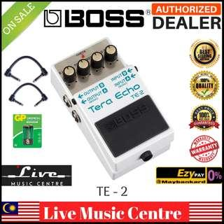 Boss TE-2 Tera Echo Guitar Effects Pedal with Patch Cable (TE2)