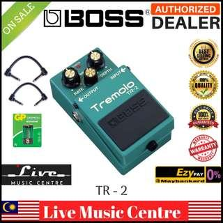 Boss TR-2 Tremolo Guitar Effects Pedal with Patch Cable (TR2)