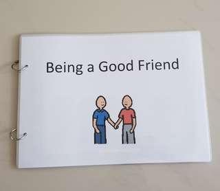 Being a good friends ; Social Story Set ; Teaching Aids ; Learning