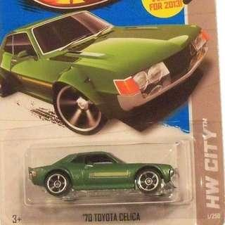 Toyota Celica - Green - From the 2013 HW City Series - X1632 - B16