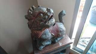 Vintage Longma 龙马 Wooden Carving