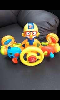 Pororo baby driving stroller handle toy