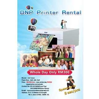 DNP printer rental with 2 photography