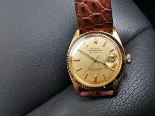 Vintage Rolex 1601 Automatic 18K Gold Watch