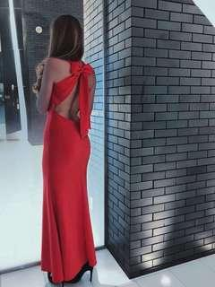 Red Evening Dress with bow