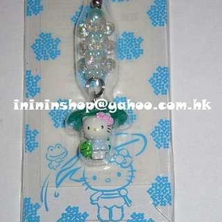 全新包郵 超可愛 購自日本 原裝Sanrio Hello Kitty 青蛙樹葉擋雨電話繩