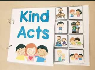 🚚 Bundle ; Kind Act & Good/Bad Behaviour Sorting / Interactive Book / Adapted book /Social Story