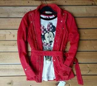 Casual Jaket Crocodile Ladies + Longsleeve Disney Minnie Mouse