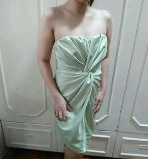 FOR SALE: Mint Green wrap-front Cocktail Dress