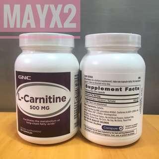 💥 強效燃脂💥GNC L-Carnitine 500mg (120粒) GNC左旋肉鹼500mg