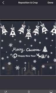 🚚 (Any 2 pieces $15) Christmas snowflakes wall decal sticker