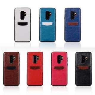 {SAMSUNG} Leather Card Slot Phone Case