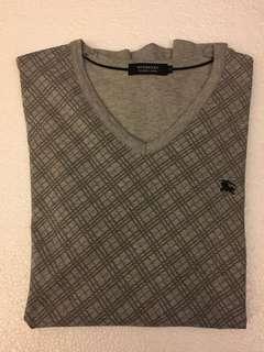 Burberry Grey T-Shirt (Medium)