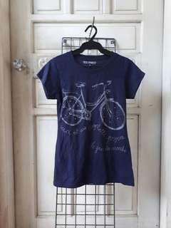 Tee Party Navy Blue Shirt with Gems