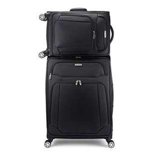 【20吋】【25吋】【全新品】新秀麗 Samsonite 系列 1067775 20吋+25吋 黑色 尼龍 旅行箱二件組