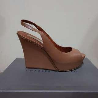CHARLES & KEITH BEIGE WEDGES