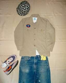 🇯🇵日本製Vintage Tewin Seven Tetoron Military Shirt