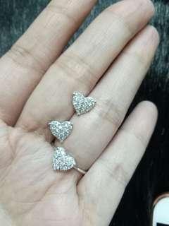 Heart diamond set