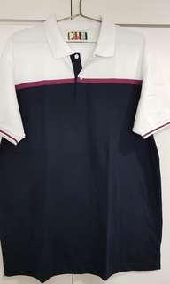 Bench Polo Shirt White/Dark Blue XXL
