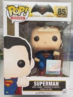 Funko POP BvS #85 Superman 100% Authentic