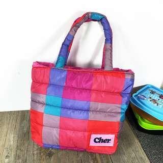 🚚 【全新現貨馬上出】羽絨材質 手提包 空氣包 便當袋 媽媽包 小包 午休包 小提袋 尼龍包 日雜附錄