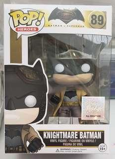 Funko POP BvS #84 Knightmare Batman 100% Authentic