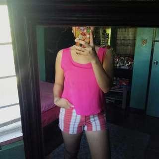 Pink ribbon back top