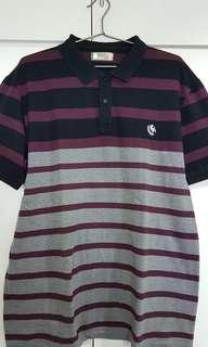 Bench Polo Shirt Maroon/Gray XXL