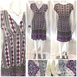 👗 Beautifully printed cotton spandex dress