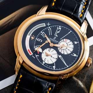 AUDEMARS PIGUET DUAL TIME MILLENARY PINK GOLD MASERATI 90TH ANNIVERSARY LIMITED EDITION