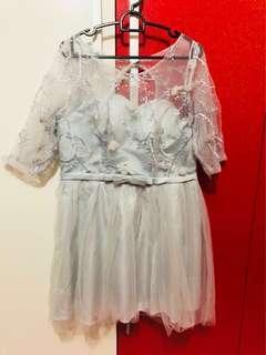 Light Grey Bridesmaids dress/ evening dress