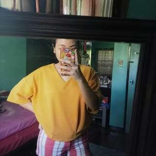 Mustard yellow loose shirt