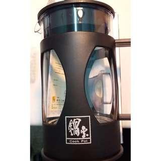 鍋寶時尚沖茶器/簡易泡茶/玻璃/露營/辦公室