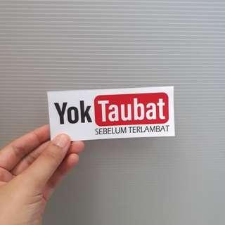 YOK TAUBAT (you tube parody) vinyl sticker