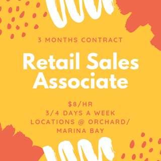 Looking for: Retail Assistants x10 || Immediate - 3 months || $8/hr