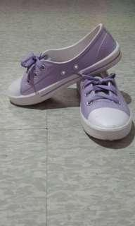 REPRICED!Lavender plastic/rubber Sneakers