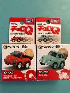 🈹Takara Tomy Q car Q-02 and Q-03