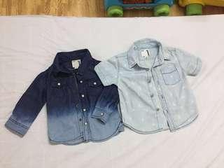Cotton On Kids Denim Top Shirt