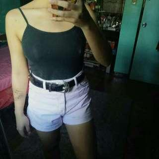 Bershka light pink hw shorts
