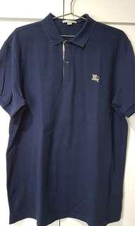 Burberry Polo Shirt Blue XXL