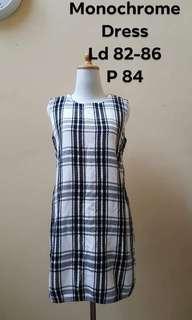 Monochrome plaid dress